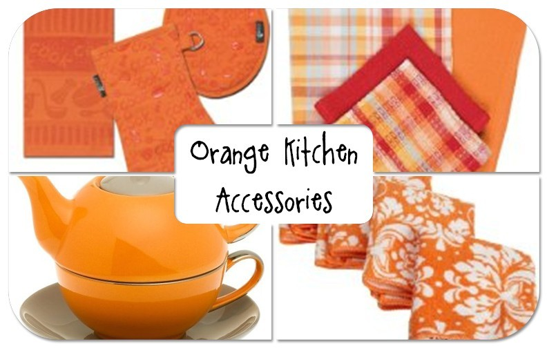 Latest Living Room Designs: Kitchen Accessories Orange